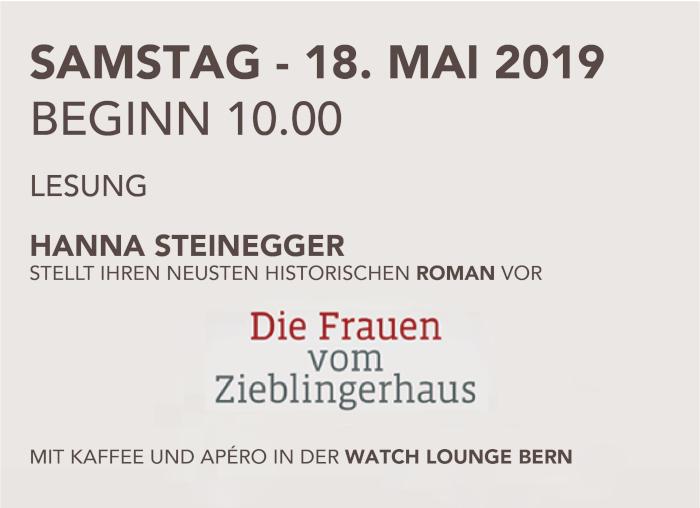 Lesung Hanna Steinegger 18.5.2019