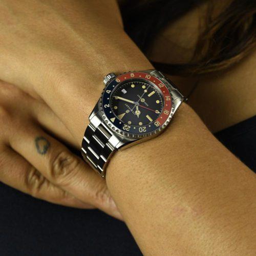 Neu Ocean 39 vintage GMT Premium blue/red Keramik